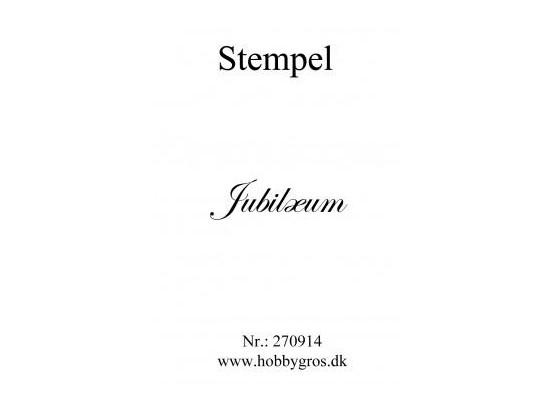 Stempel Jubilæum Clear stamp