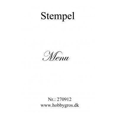Stempel Menu Clear stamp