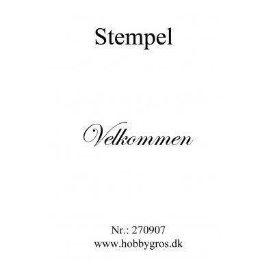 Stempel Velkommen Clear stamp