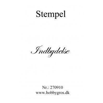 Stempel Indbydelse Clear stamp