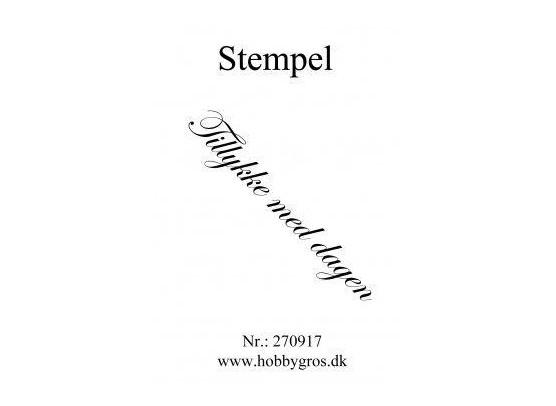 Stempel Tillykke med dagen Clear stamp