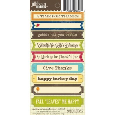 Jillibean Soup Country Pumpkin Chowder Soup labels