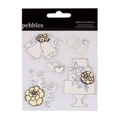 Pebbles Mr & Mrs Stickers 2