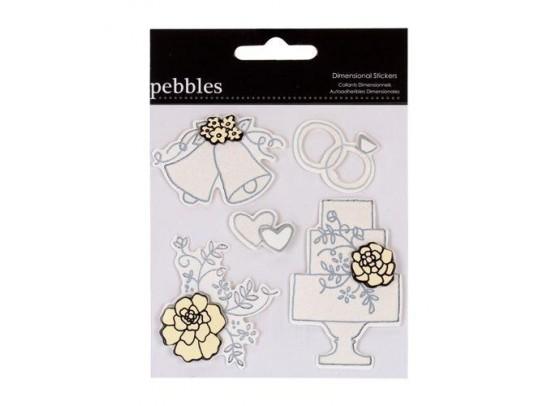 Pebbles Mr & Mrs Stickers 2