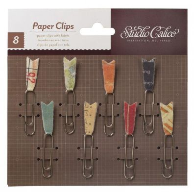 Studio Calico Abroad Paper Clips with Fabric