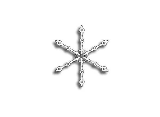 Memory Box Dies Beaded Snowflake