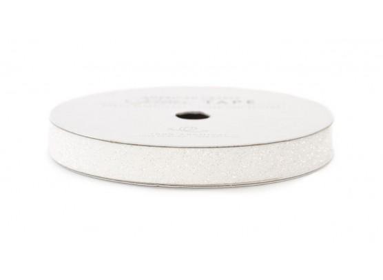 """American Crafts Glittertape Hvid 3/8"""""""