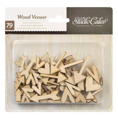 Studio Calico Wood Veneer Hearts & Arrows