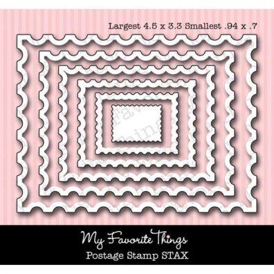 My Favorite Things/  Die-namics Dies Postage Stamp stax