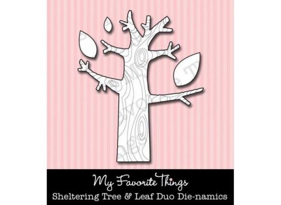 My Favorite Things/  Die-namics Dies Sheltering & Leaf Trio