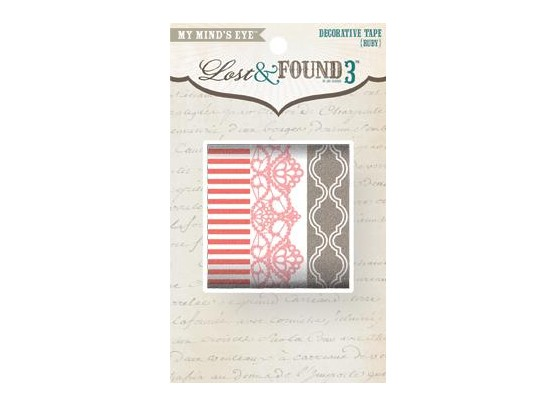 Lost and Found 3 Ruby Decorative Washi Tape