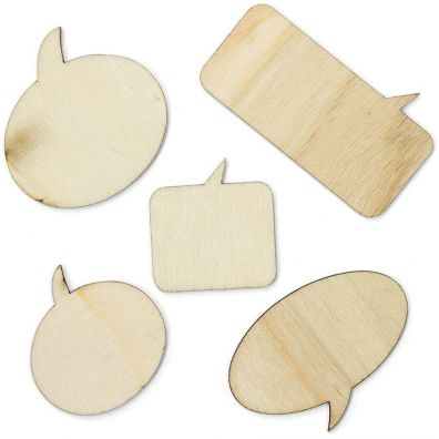 Studio Calico Wood Veneer Speechbubbles