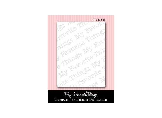 "My Favorite Things Dies LLD Insert It - 3x4"" Insert"