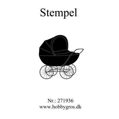 Stempel Barnevogn Clear stamp