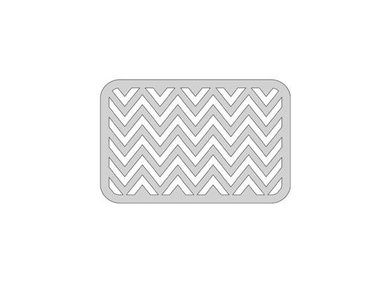 "The Crafters Workshop Dies 4x6"" Horizontal Chevron"