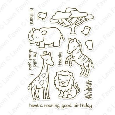 Lawn Fawn Critters in the Savanna Clear stamp