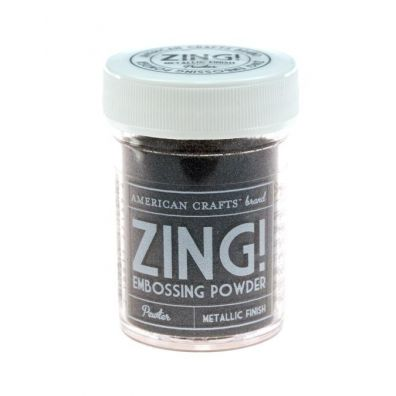 Zing Embossing pulver Metallic Pewter