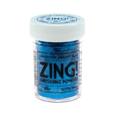 Zing Embossing pulver Blue Glitter