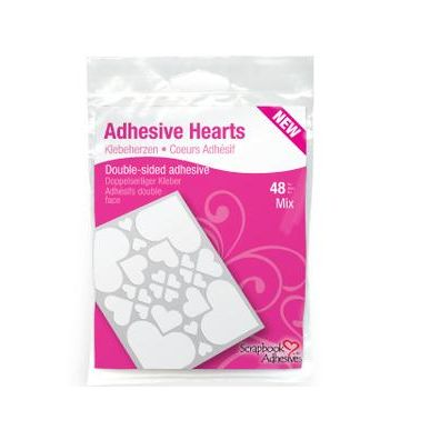 3L Adhesive Hearts Clear