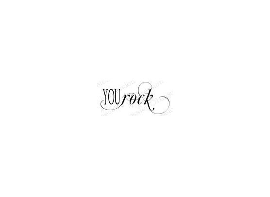 Impression Obsession Cling Stempel - You Rock