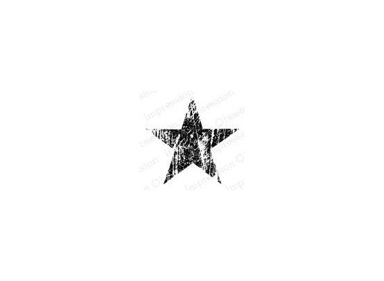 Impression Obsession Cling Stempel - Grunge Star 2