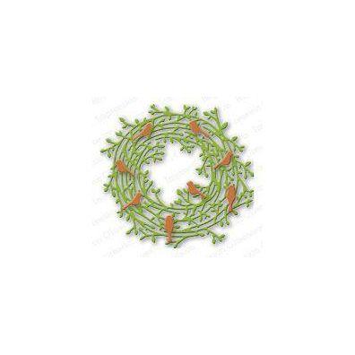 Impression Obsession Die - Leafy Wreath