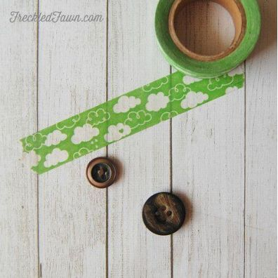 Freckled Fawn Washitape - Cloud Green