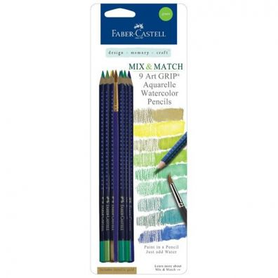 Faber Castell Aquarelles Mix and Match Green