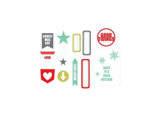 Good Tidings Clear Tags - Chic Tags
