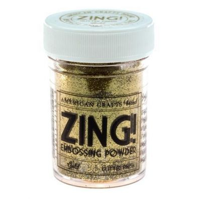 Zing Embossing pulver Gold Glitter