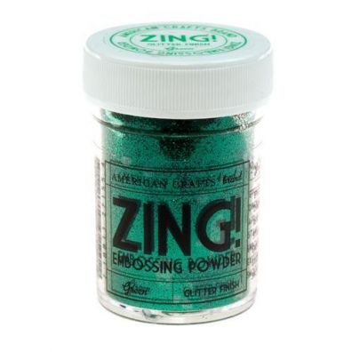 Zing Embossing pulver Green Glitter