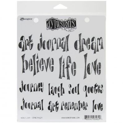Dylusions Cling Stamp - Word Love