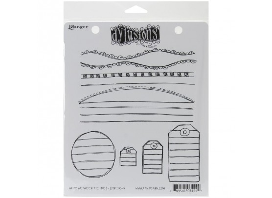 Dylusions Cling Stamp - Write Between the Lines