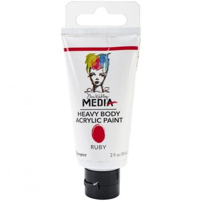 Dina Wakley Heavy Body Acrylic Paint - Ruby