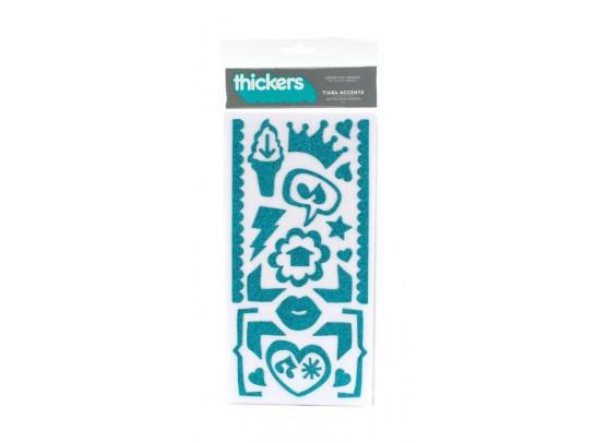 Thickers Tiara Accent Aqua