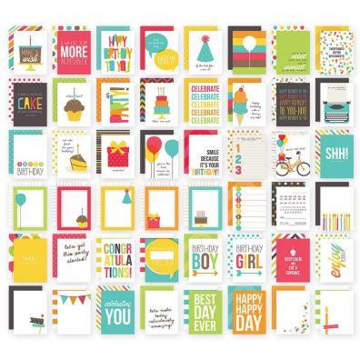 Simple Stories Sn@p - Birthday - 3x4 Cards