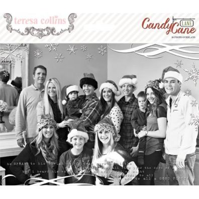 Teresa Collins Candy Cane Lane - Photo Overlays