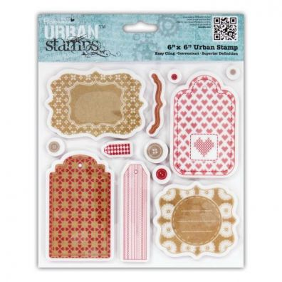 Papermania Urban Stamps - Home for Christmas - Tags