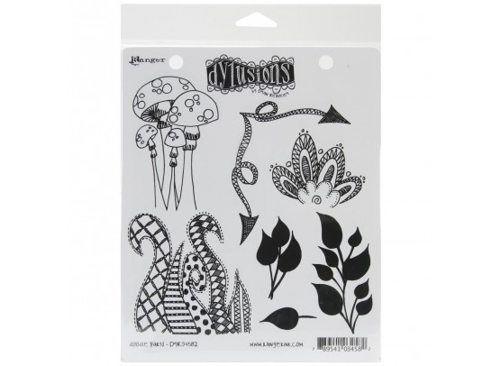 Dylusions Cling Stamp - Doodle Parts