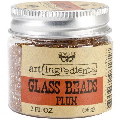Prima Glass Beads Plum