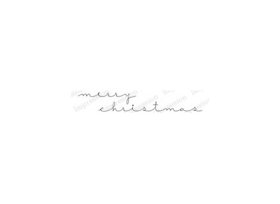 Impression Obsession Cling Stempel - Merry Christmas