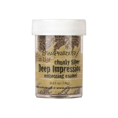 Stampendous Chunky Silver Deep Impression embossing enamel