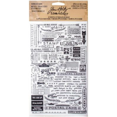 Tim Holtz Remnant Rub-ons - Special delivery