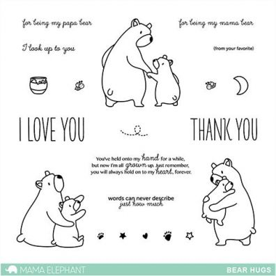 Mama Elephant Clear Stamps - Bear Hugs