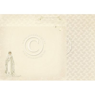 Vintage Wedding - Here comes the Bride Mønsterpapir fra Pion Des