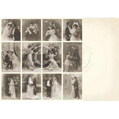 Vintage Wedding - Wedding Day Mønsterpapir fra Pion Des