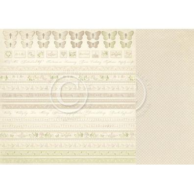 Vintage Wedding - Borders Mønsterpapir fra Pion Des