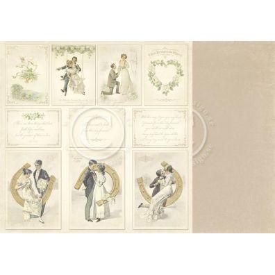 Vintage Wedding - Images Mønsterpapir fra Pion Des