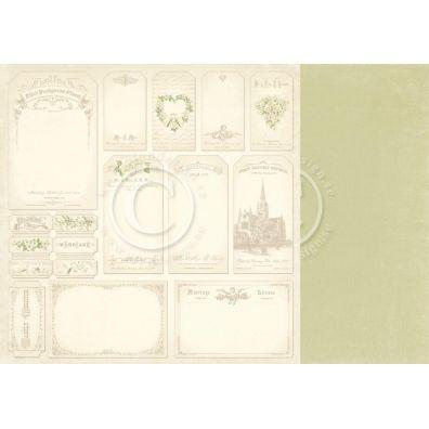 Vintage Wedding - Tags Mønsterpapir fra Pion Des