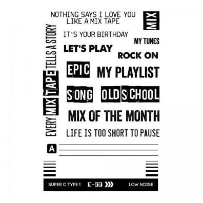 My Favorite Things Clear stamp - Playlist
